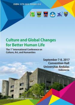 Cover for PROCEEDING The 1st  International Conference on Culture, Arts and Humanities (ICCAH): Culture and Global Changes for Better Human Life
