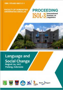 Cover for Proceeding The 3rd  International Seminar on Linguistics (ISOL-3): Language and Social Change