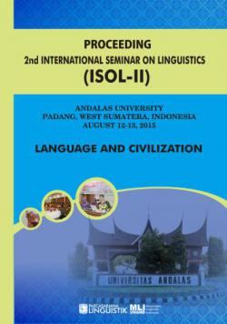 Cover for PROCEEDING  THE 2nd  INTERNATIONAL SEMINAR ON LINGUISTICS (ISOL-2): Language and Civilization