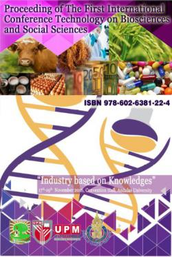 """Cover for The Proceeding Of The 1st International Conference Technology on Biosciences and Social Science 2016: """"Industry Based On Knowledges"""