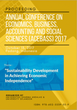Cover for Proceeding Annual Conference on Economics, Business, Accounting and Social Sciences (ACEBASS) 2017: Sustainability Development in Achieving Economic Independence